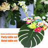 6Pcs Artificial Green Tropical Monstera Palm Leaf DIY Wedding Party Table Decor