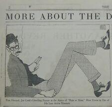 AL HIRSCHFELD June 3 1928 TOM HOWARD JOE CLARK - RAIN OF SHINE New York Times