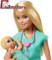 🌟Barbie Careers Baby🌟Doctor Playset With Blonde Doll 2 Infant Dolls Toy Pieces