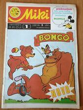 MICKEY comics #1 Little bear BONGO comic inside Yugoslavia 1972 Mickey Mouse
