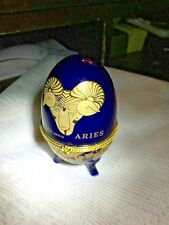 Collectible Imperial Egg Blue/Purple China Nice Desk Decoration