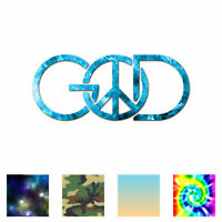 God Peace Sign - Vinyl Decal Sticker - Multiple Patterns & Sizes - ebn876