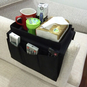 Home Sofa Armrest Organizer 4 Pockets Cup Holder Tray Couch Armchair Hanging Bag