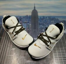 Nike Womens Free Metcon 2 White/Metallic Gold-Black Size 5 CD8526 176 New