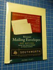 10 Pk Southworth Connoisseur Collection Booklet Resume Envelopes 9x12 Ivory