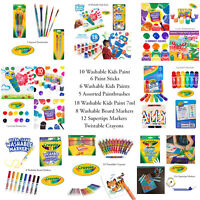 Crayola Kids Safe Washable Paints Pens Crayons Colouring Arts And Crafts Sets