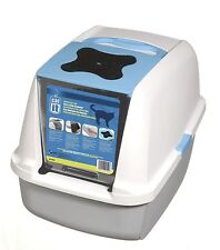 Catit Style Hooded Cat Pan/ Litter Tray/ Litter Box 57 x 46 x 39 cm Blue Catit