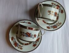 Royal Limoges Mandarin coffee cups & saucers 2 sets French Limoges