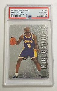 Kobe Bryant rookie Fleer metal precious metal rare psa 8 1996 RC #181 Low Pop SP