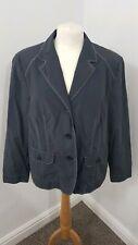 LEBEK COLLECTION Blue Lightweight Casual Button Down Autumn Jacket UK Size 18