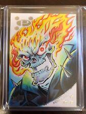2017 Upper Deck Marvel Premier Jason Crosby Ghost Rider 1/1 Color Sketch Card