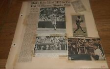 Vintage Baseball Clippings TED WILLIAMS Bob Gibson  WILLIE MAYS sports lot Rare