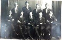 .RARE 1920 REAL PHOTO POSTCARD IPSWICH GRAMMAR SCHOOL, STAFF PHOTO. J A HUNT