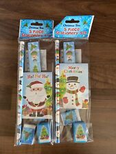 1x 5pc Christmas Stationery Sets for Kid's Favours and Stocking Bag Fillers