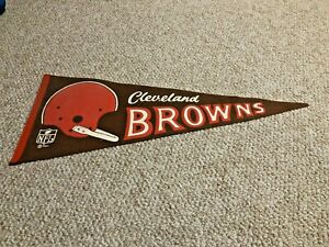 1967 Cleveland Browns Pennant Single Bar Helmet ~Nice~ Sharp