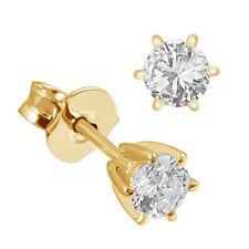 Goldmaid Ohrstecker Ohrring Solitär 6er-Stotzen 585 Gelbgold 2 Brilliant 0,25 ct