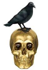 Boneyard Cráneo Y Cuervo Decoración De Mesa Gótico Fiesta De Halloween 21cm X 9cm 1485