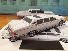 Papercraft Lincoln Executive Limousine Paper Car EZU-Make It 1978 Toy Model Car