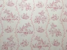 """ANNA FRENCH """"Happy Valley"""" CURTAIN FABRIC LINEN/COTTON CUSHION BLIND PINK PM"""