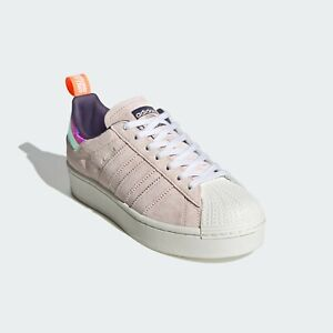 adidas Women's Originals Superstar Plateau Sneaker FW8084 size 9 New with Box