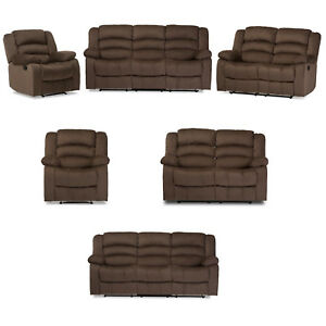 Brown Taupe Microsuede Reclining Sofa OR Loveseat OR Chair OR Full Set of All 3