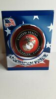 American Pride United States Marine Corps Glass Christmas Ornament NEW Red