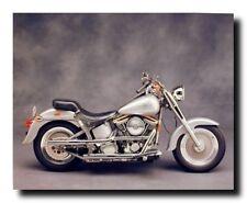 Silver Harley Davidson Vintage Motorcycle Wall Decor Art Print Poster (16x20)
