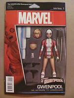 Unbelievable Gwenpool #1 Marvel 2016 Series Action Figure Variant 9.6 NM+