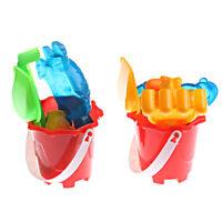 Kids Beach Bucket Spade Shovel Rake Water Tools Kid BeachSand Tool Toy R N_N