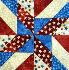 {12} Pre~Sewn Already Pieced Land of Lincoln Quilt Blocks ~ Americana ~ 12""