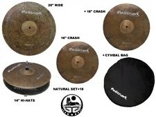 Masterwork Cymbals Natural Cymbal Pack Box Set+18Crash (14HH-16+18CRS-20R+Bag)