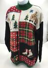 Ugly Christmas Sweater Epoch Knitwear Pullover Size Large