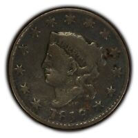 1818 1c Coronet Head Large Cent - Fine+ Details - SKU-Y2332
