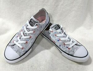 Converse Girl's CTAS OX Mouse/Multicolor Sneakers-Size 11/2/3/4/5/6 NWB 665360F
