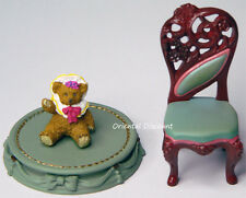 Victorian Ballroom Back Chair Bear Takara Kaiyodo Miniature Antique Museum 2003