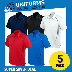 5 X CYBER POLO SHIRT WORK UNIFORM SPORT CLUB GYM OFFICE MENS P604MS LADY P604LS