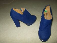 BUFFALO PURPLE SUEDE PLATFORM ANKLE BOOTS/SHOES SIZE 4/37 NEW