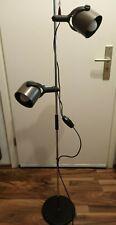 Stehleuchte Retro Design Stehlampe Vintage Standleuchte Metall 2-flammig schwarz