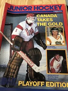 Junior Hockey Magazine April 1985 Team CANADA TAKES GOLD Playoff Edition