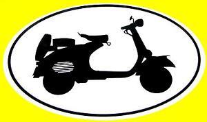VESPA decal Euro oval vinyl bumper sticker piaggio 50's motor scooter italia