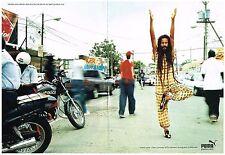 PUBLICITE ADVERTISING   2001   PUMA  (2 pages) athlétisme en JAMAIQUE