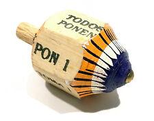 Mexican Wooden Spinning Toma Todo Game Pirinola