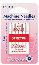 Tamaño 90/14 aguja para máquina de coser-Klasse Stretch agujas bien-Pack 5