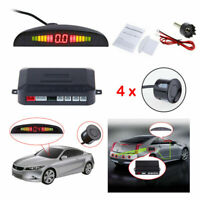 4 Car Reverse Parking Sensors Rear Sensors LCD Display Audio Buzzer Alarm Kit