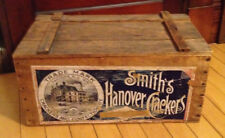 Antique Hanover Cracker Company Wooden Box White River Junction, VT