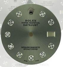 Rolex Custom Grey Diamond Dial to Fit Rolex Datejust Quickset 36mm Model