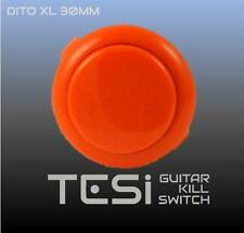 Tesi DITO XL Snap In 30MM Arcade Button Guitar Kill Switch - Orange