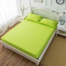 9 Size Fitted Sheet Bedding Cover Bed Sheet Set Pillow Case Comfort Solid Color
