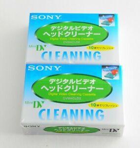 LOT 2 Sony DVM4CLD2 mini DV Digital Video Head Cleaning Tape Made in Japan