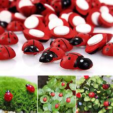 Mini Ladybug Beatles Garden Ornaments Scenery Craft For Plants Fairy Decor 20Pcs